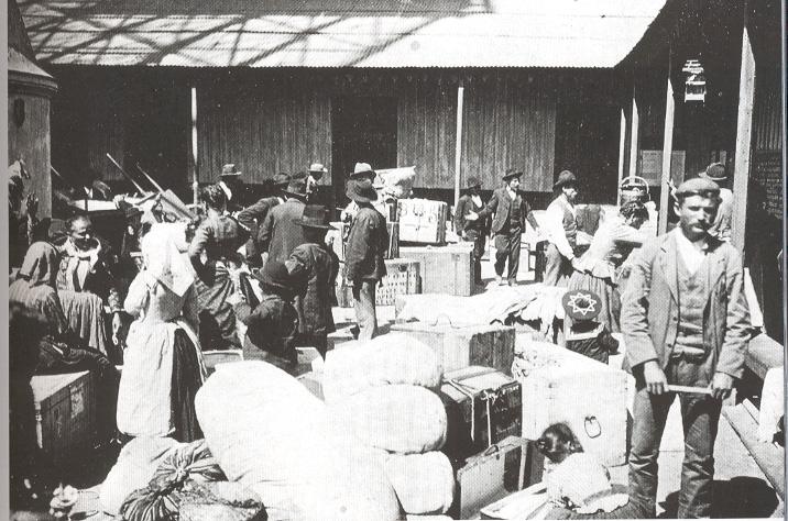1904 - Buenos Aires - Il porto all'arrivo degli emigranti