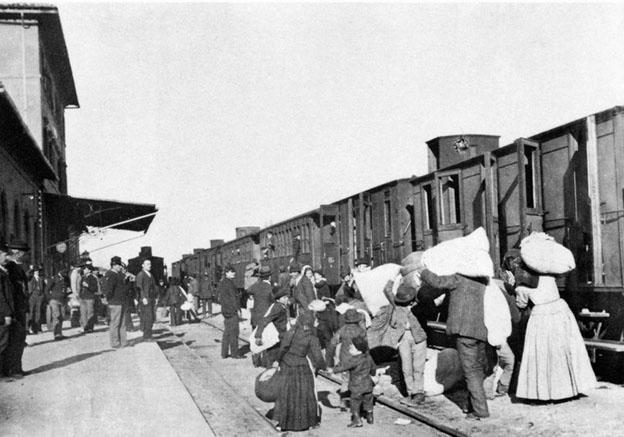 1908 - Partenza di emigranti