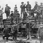 1902 - Esch-sur-Alzette (Lussemburgo) - Lavoratori italiani nella miniera dell'impresa Hoel