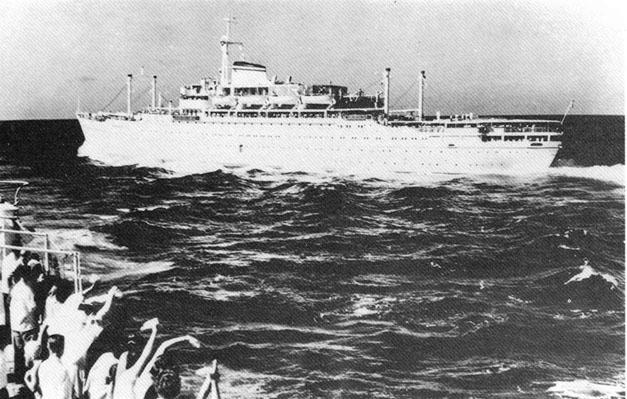 1955 - Motonave Vulcania verso l'Australia