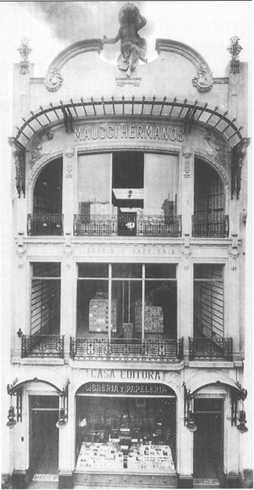 1910 - Buenos Aires (Argentina) - Sede della libreria e Casa editrice fondata dai fratelli Maucci, di Massa Carrara