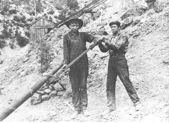 1900 circa - (USA) - Emigrante toscani, di Pontremoli, minatori