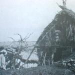 1900 - Campagna romana: guitti nelle loro abitazioni