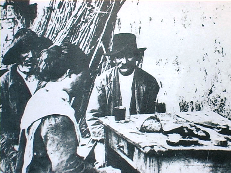 1890 - Campagna romana: pranzo dei guitti