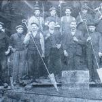 1912 - Villerupt (Francia) - Gruppo di fonditori nell'acciaieria di Aubrives