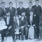 1910 - Pittston (Pennsylvania-USA) - Gruppo di emigranti di Nocera Umbra