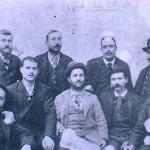 1895 - Festa del 1° Maggio. Nel gruppo i leader del movimento socialista della Costa Azzurra originari di Città di Castello