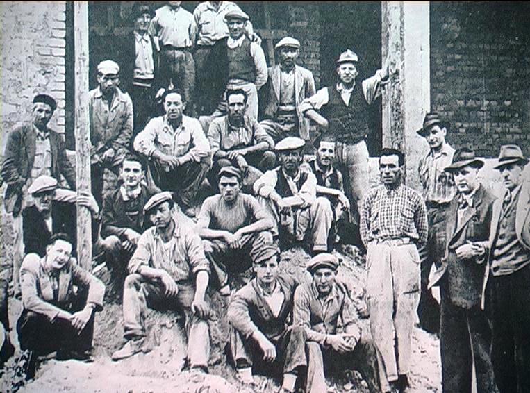 1950 - Differdange (Lussemburgo) - Operai italiani