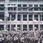 1955 - Lussemburgo - Lavoratori italiani in un cantiere edile