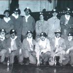 1952 - Liegi (Belgio) - Minatori in una miniera di carbone
