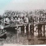 1905 - Porto di Talcahuano (Cile) - Sbarco dell'ultima spedizione di contadini emiliani