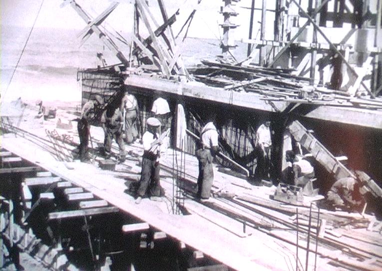 1939 - Mar del Plata (Argentina) - Costruzione del molo