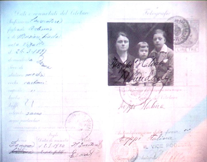 1929 - Passaporto di emigrante emiliana